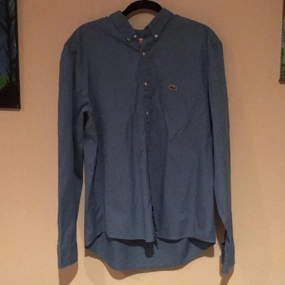 93edcb16 Lacoste bright blue men's dress shirt. Size 44 l